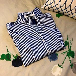 H&M Striped Cobalt/White Shirt
